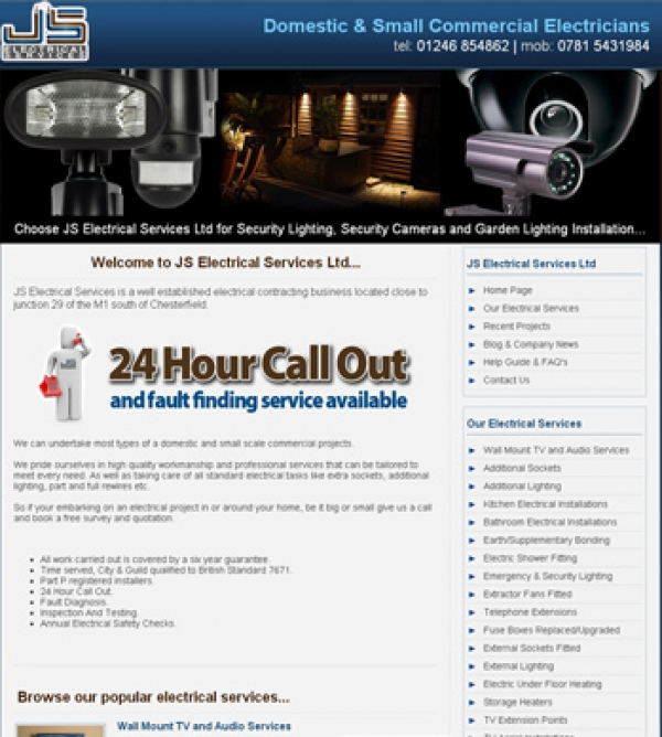JS Electrical Launch their New Web Site!